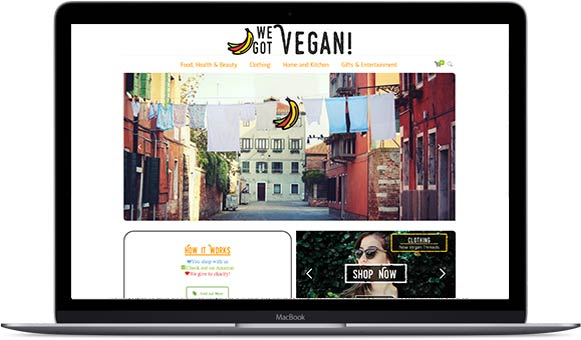 Vegan website design by HeadSmart Media